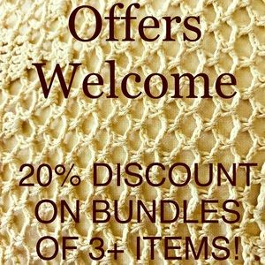 Offers welcome! Bundles of 3+ items get 20% off!
